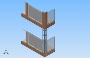 Konstruksjon og dimensjonering av fasader og balkonger.