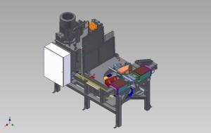 100 kN bøyemaskin for varmt produkt. 500 grader celsius. Robothåndtering inn/ut.